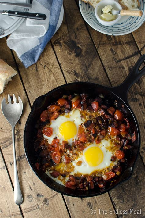 chorizo tomato  egg breakfast skillet  endless meal