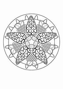 Kostenlose Malvorlage Mandalas Herbst Mandala Zum