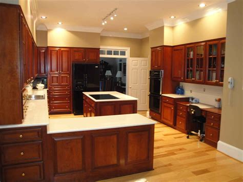 Dark Brown Cabinets With Black Appliances Deductourcom