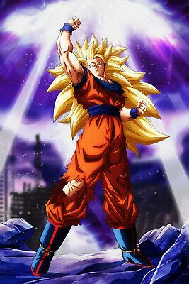 dragon ball  poster goku ssj  wbackground inches