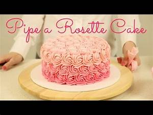 How to Decorate an Ombré Rosette Cake - CAKE STYLE - YouTube