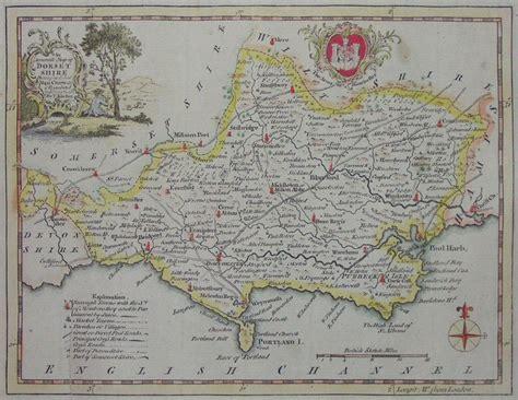 antique map  dorset kitchin
