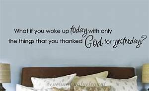 What if you woke up today christian vinyl decor wall decal