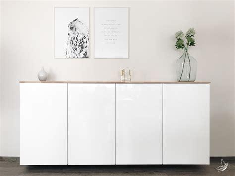 Ikea Linea Besta Ikea Hack Metod K 252 Chenschrank Als Sideboard Elfenweiss