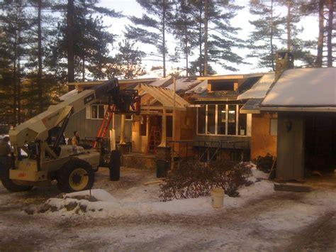 lakefront raised ranch transformed  lodge tony fallon
