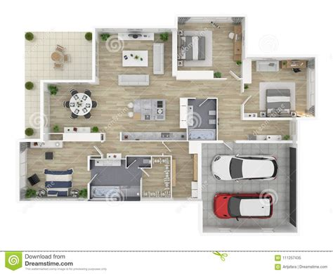 floor plan   house top view  illustration stock