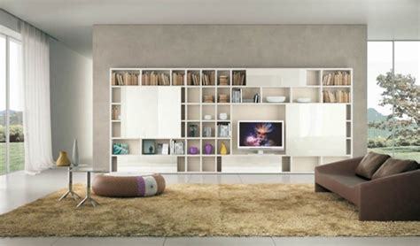modern living room shelves modern living room ideas with brown shelving