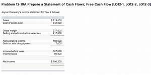 Free Cash Flow Berechnen : solved problem 12 10a prepare a statement of cash flows ~ Themetempest.com Abrechnung