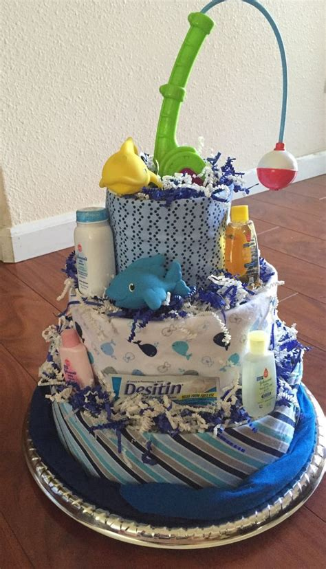 Diy Fishing Boat Diaper Cake by Babies Cakes And Fishing On Pinterest