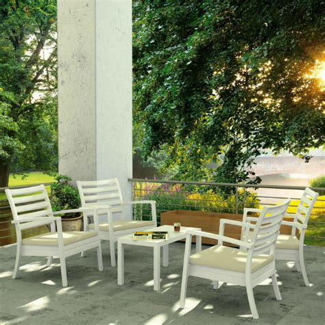 artemis xl club seating set 7 white by compamia