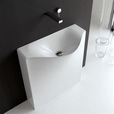 Photos Of Modern Bathroom Sinks by Artceram One Back Free Standing Washbasin Modern