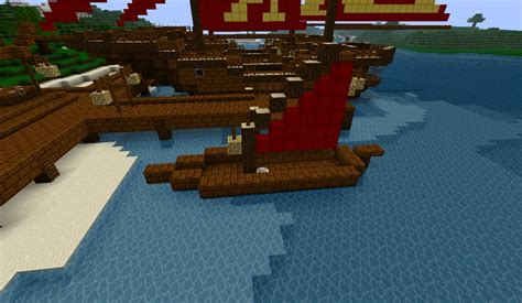 Minecraft Japanese Boat by Japanese Harbor Minecraft Project