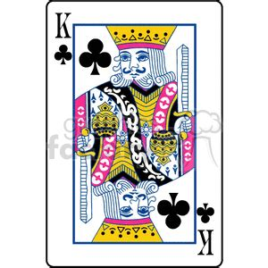 royalty  king  clubs  vector clip art image