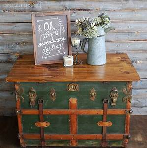 Antique Steamer Trunk Turned Coffee Table Hometalk
