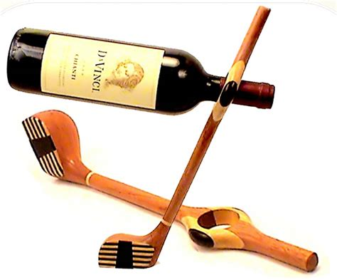 Unique Wine Accessories, Wine Bottle Holder, Golf Club