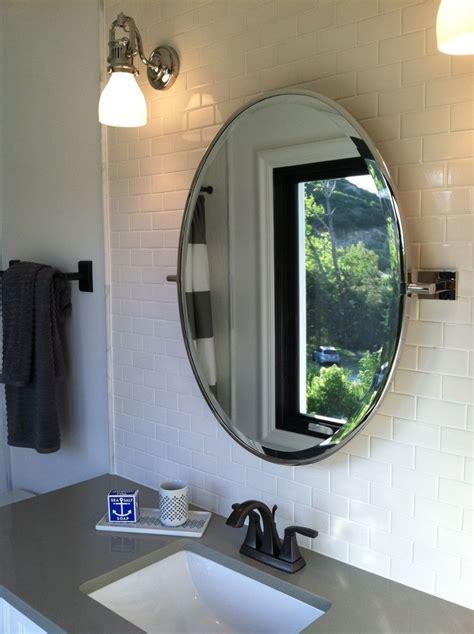Bathroom Ideas, Framed Oval Home Depot Bathroom Mirrors