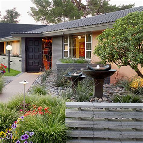 front yard makeover ideas mid century modern front yard makeover after outdoor landscape makeovers sunset