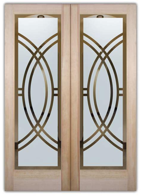 nautical kitchen cabinet arcs ii etched glass front doors deco design