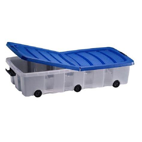 boite de rangement a roulettes sous lit bo 238 te en plastique rangement 224 roulettes sous lit achat vente boite de rangement cdiscount