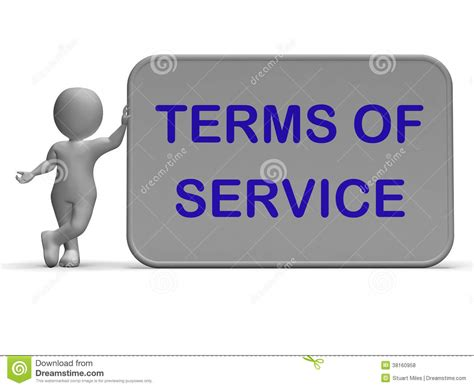 Terms Of Service Sign Shows Agreement And Contract For Use