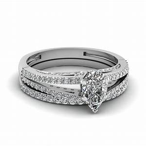 pave set micropave engagement rings setting With diamond shaped wedding ring