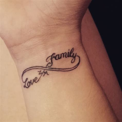 family infinity symbol tattoos