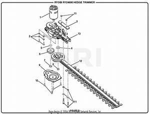 Homelite Ry24600 24 Volt Hedge Trimmer Parts Diagram For Figure C