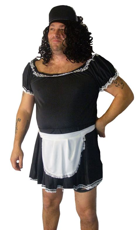 Cross Dresser Male French Maid Fancy Dress Mens Stag