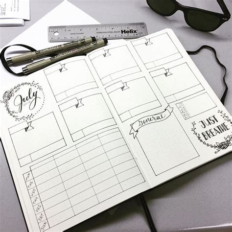 Bullet Journal Dotted Templates by Bullet Journal Layout Template Bullet Journaling Inspo