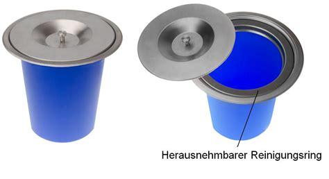 Mülleimer Für Einbauschränke by Edelstahl Einbau Abfalleimer K 252 Chen Arbeitsplatte
