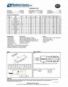 Robertson 3p20132 Fluorescent Eballast For 2 F40t12 Linear Lamps  Preheat