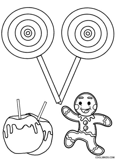 printable candy coloring pages  kids