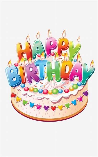 Birthday Happy Cake Clipart Wishes Decoration Birthdays