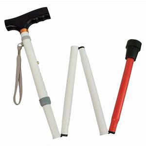 MaxiAids | Adjustable Folding Support Cane f-t Blind 37-40-in