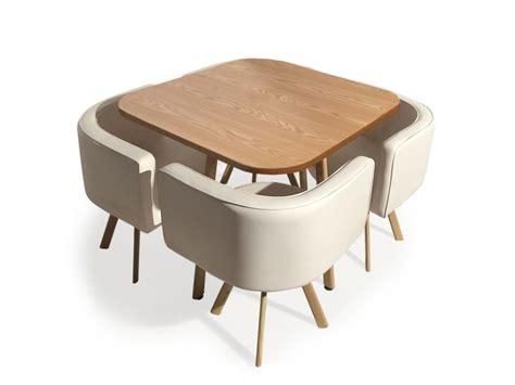 Table Et Chaises Scandinaves Oslo Beige  Vente De Menzzo