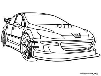 Download Coloriage Voiture De Course Mercedes  Gif