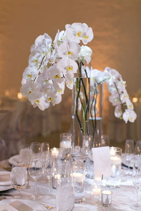 White Orchid Wedding Centerpieces Chez Chicago Venue