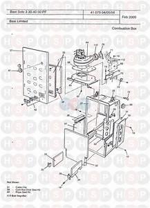 Baxi Solo 3 50 Pf  Combustion Box  Diagram