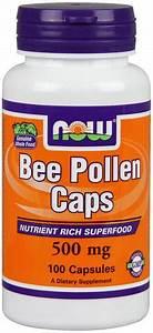 Now Foods Bee Pollen Supplement 500 Mg