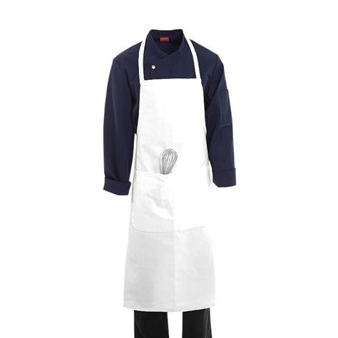 tablier de cuisine 224 bavette blanc 100 coton