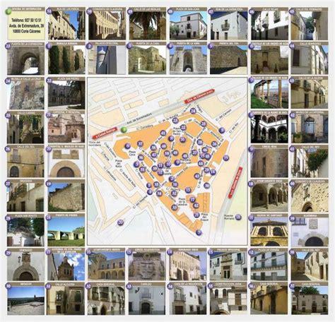 coria caceres mapa plano parte antigua de coria coria