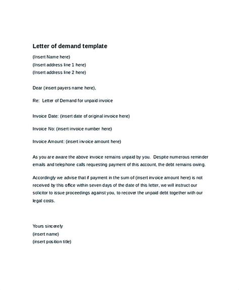 demand letter template demand letter template collection demand letter this is an 8100
