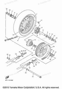Yamaha Motorcycle 2009 Oem Parts Diagram For Rear Wheel