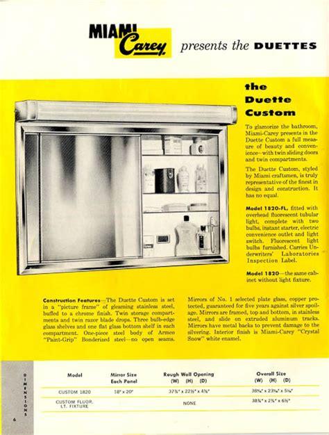 vintage medicine cabinets  miami carey circa