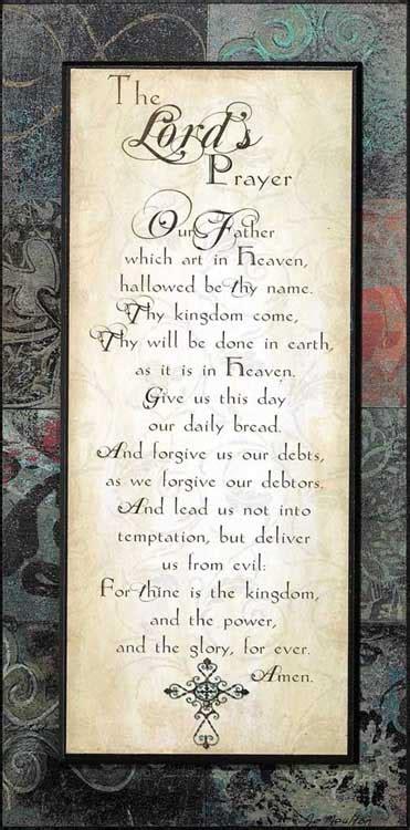 lords prayer plaque