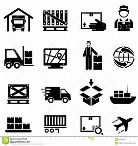 Shipping, Cargo, Delivery And Warehouse Web Icons Stock ...