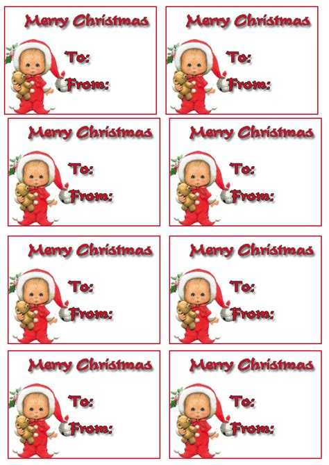 free christmas gift tags free merry christmas holiday giftags