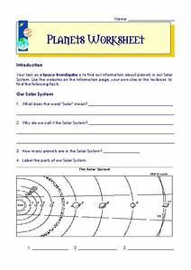 Planets Worksheet Worksheet For 4th