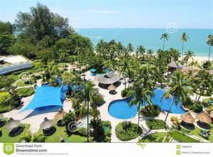 Tropical Beach Resort stock photo Image of getaway
