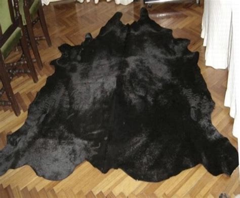 How To Cowhide by Dyed Solid Black Cowhide Rug All Black Cowhide Rugs